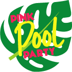 Pink Pool Party Logo Leaf Small